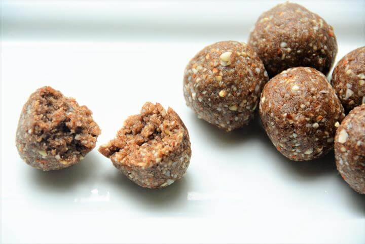 Millet Energy Bites With Almonds, Dates And Coconut Recipe