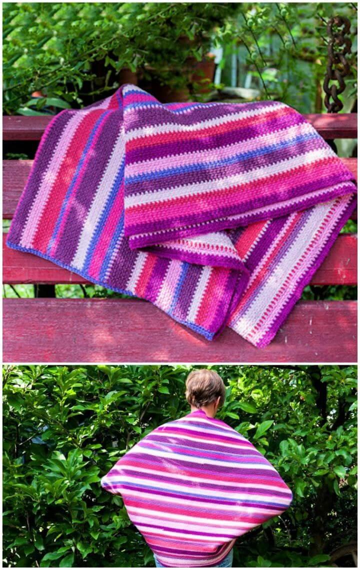 Free Blanket Crochet Sweater In Stripes