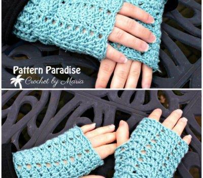 Free Crochet Charmed Fingerless Gloves