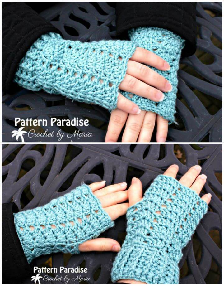 Free Crochet Charmed Fingerless Gloves