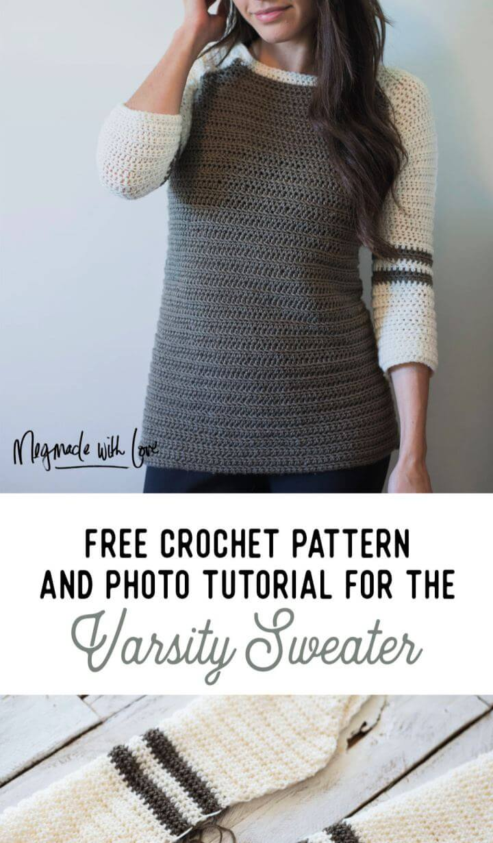 Free Crochet Pattern for the Varsity Sweater