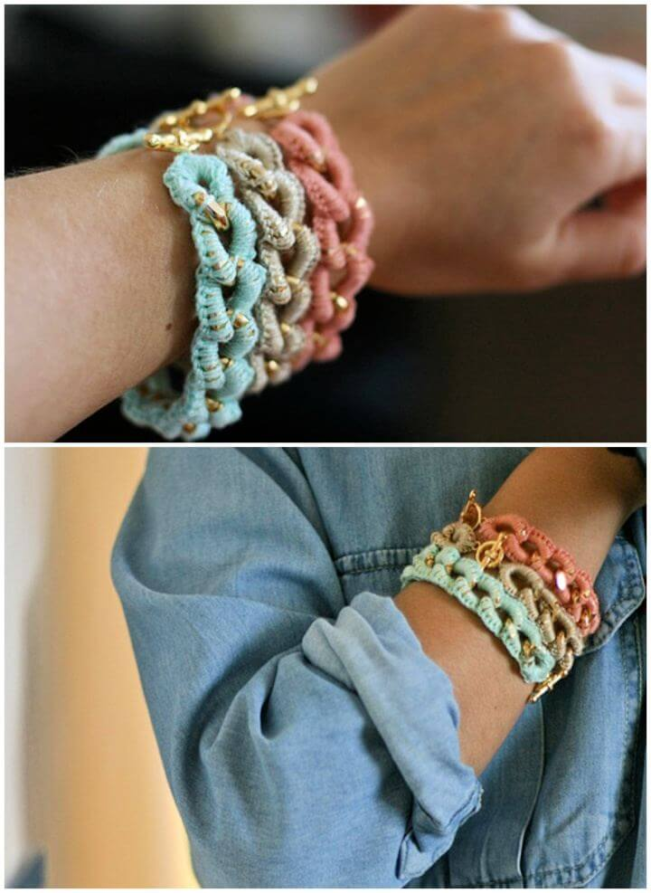 Free Crocheted Chain Bracelets For Beginners