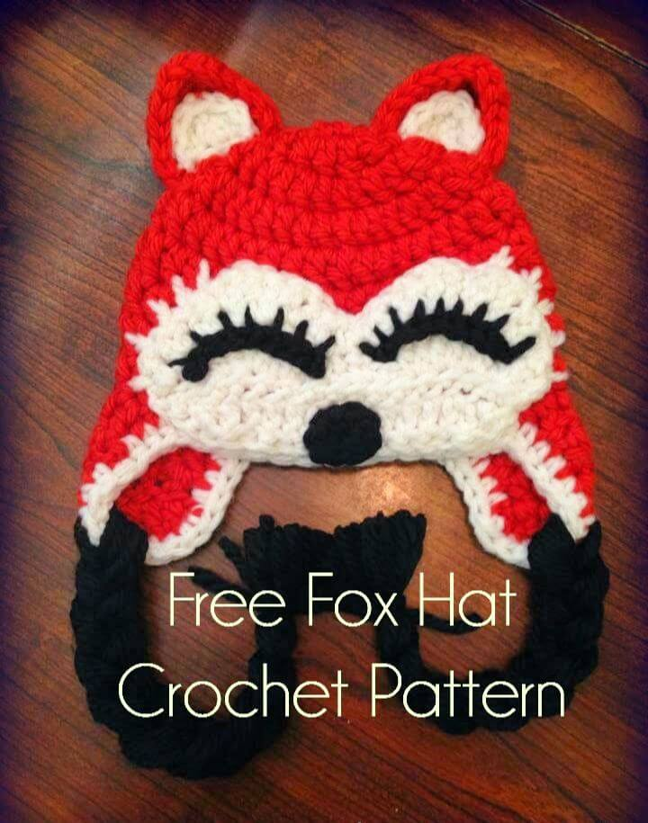 Free Fox Crochet Hat Pattern