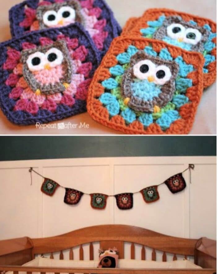 Free Owl Granny Square Crochet Pattern For Beginners