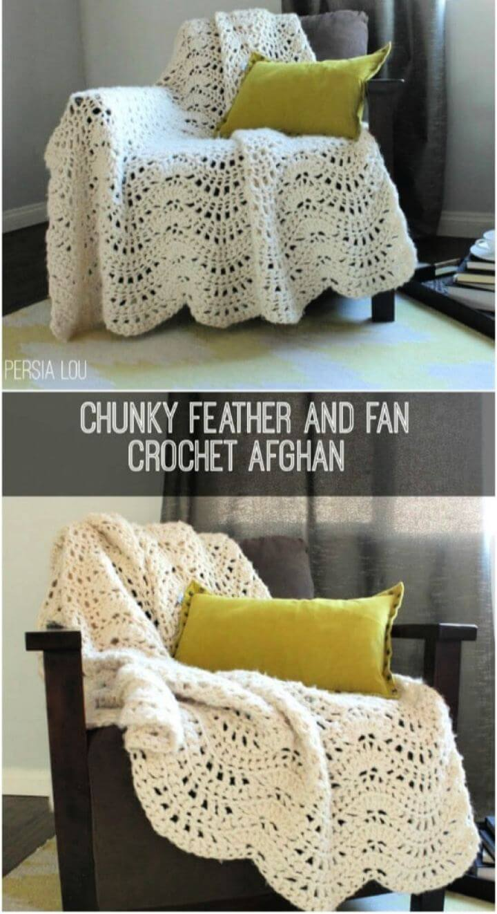 Free Pretty Crocheted Afghan For Beginners