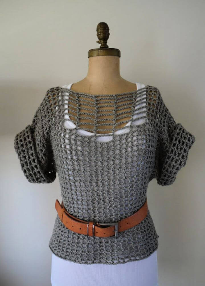 Free Summer Crochet Sweater Pattern