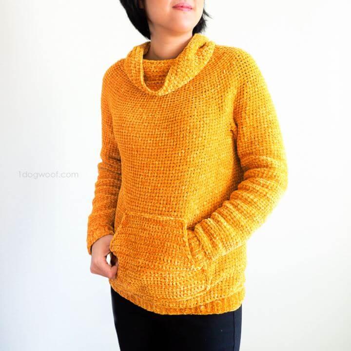Free Sweatshirt Sweater Crochet Pattern