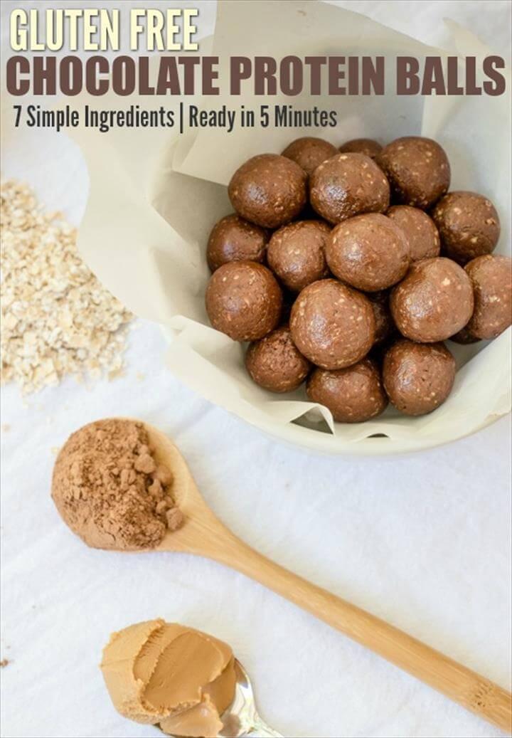 Gluten-Free Chocolate Protein Balls Recipe