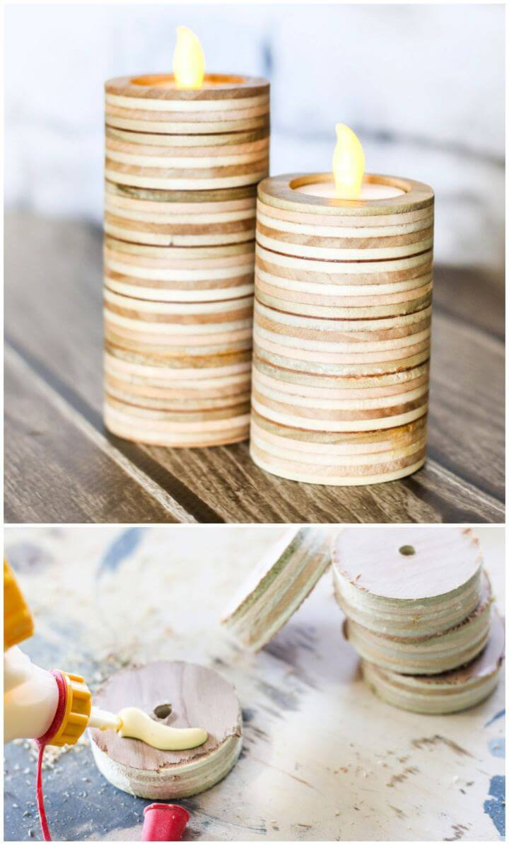 How To Build A Scrap Plywood Candle Holders