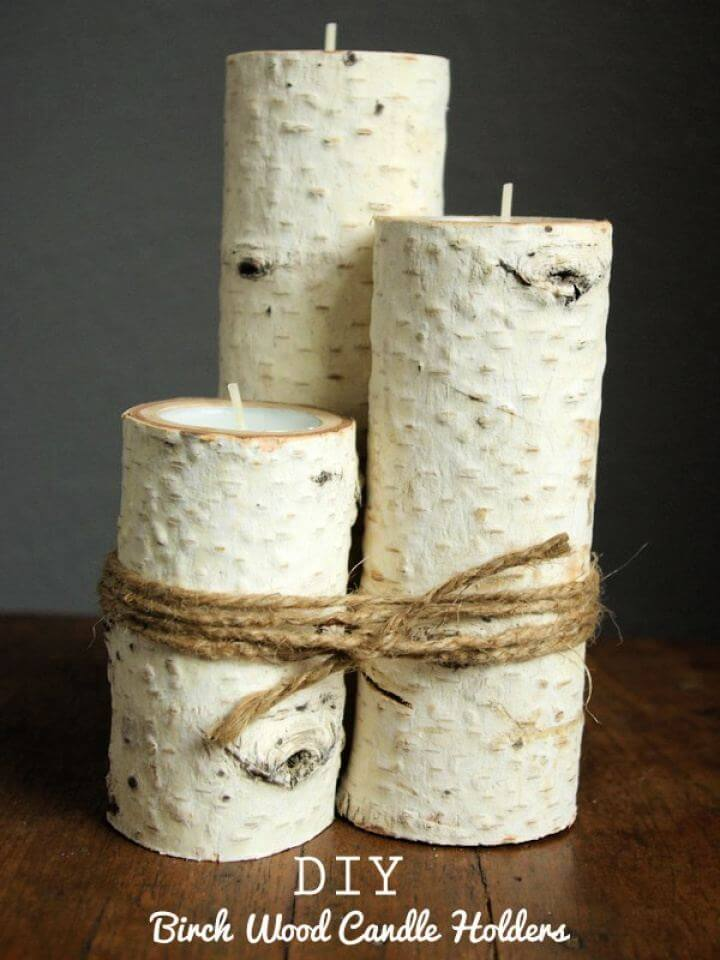 How To Build Birch Wood Candle Holders For Living Room