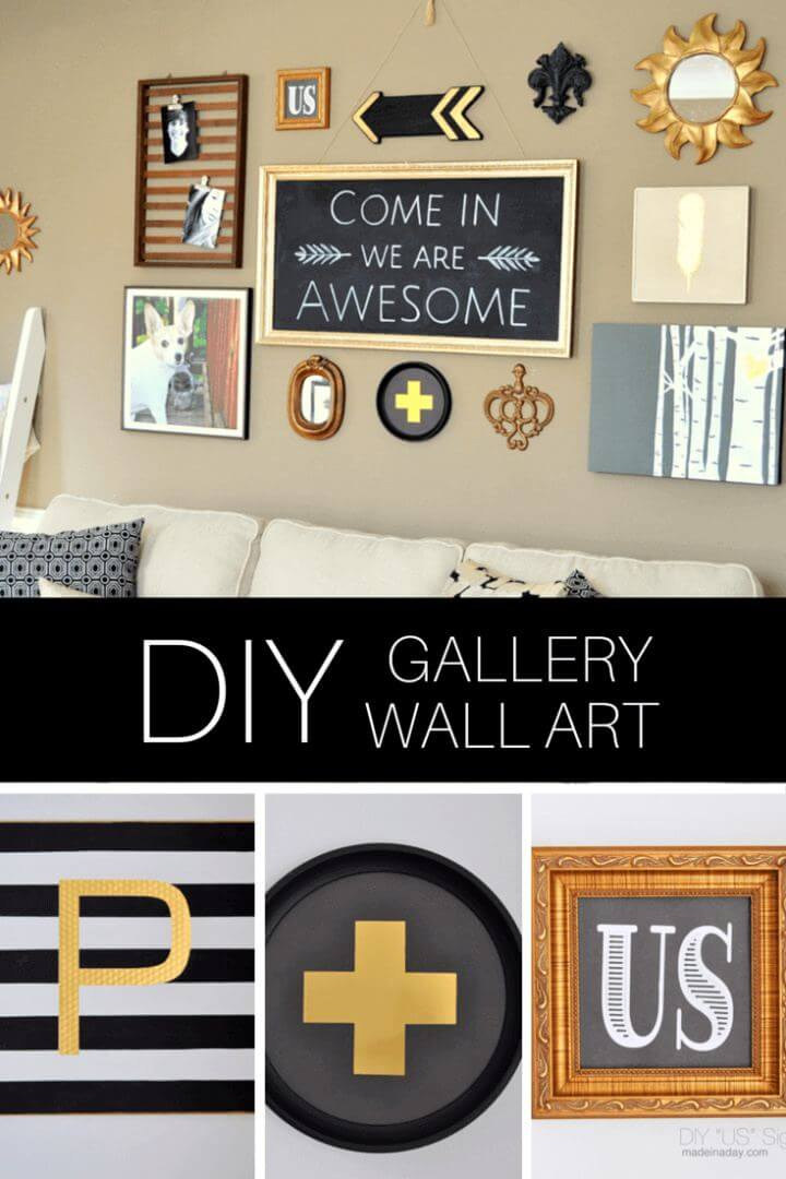 How To Build Black Gold Gallery Wall For Living Room