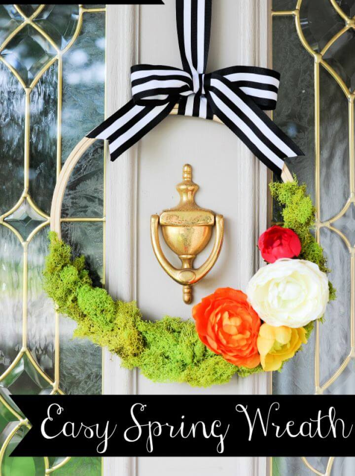 How To Build Floral Spring Wreath