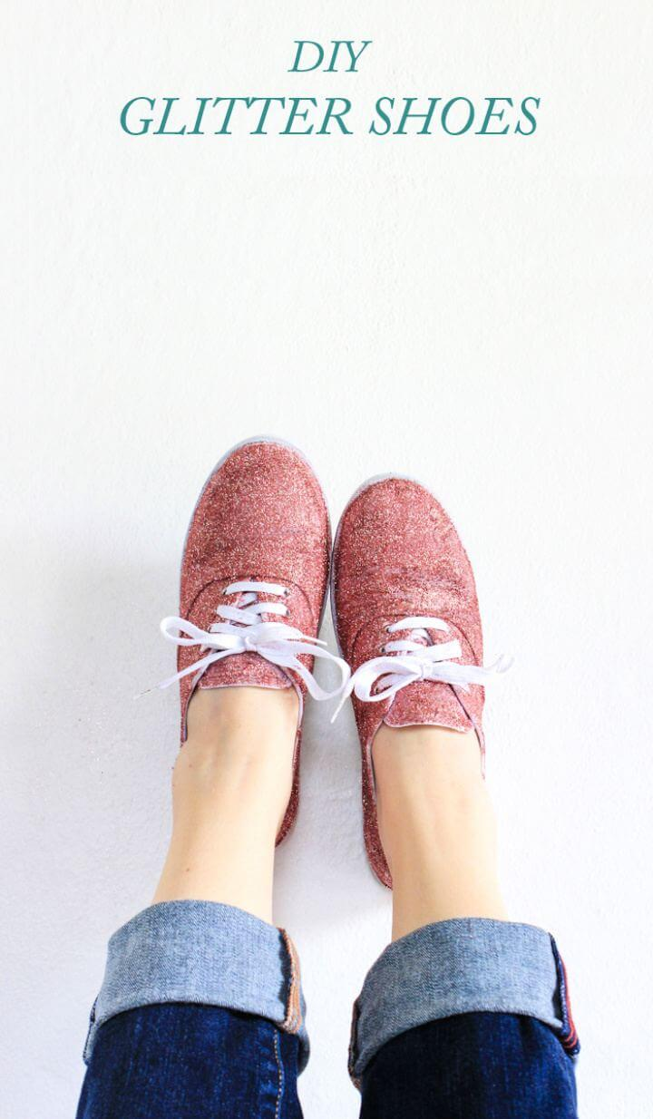 How To Build Glitter Shoes