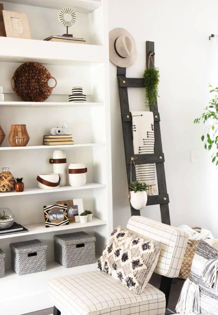 How To Build Gold Bolt Blanket Ladder For Living Room