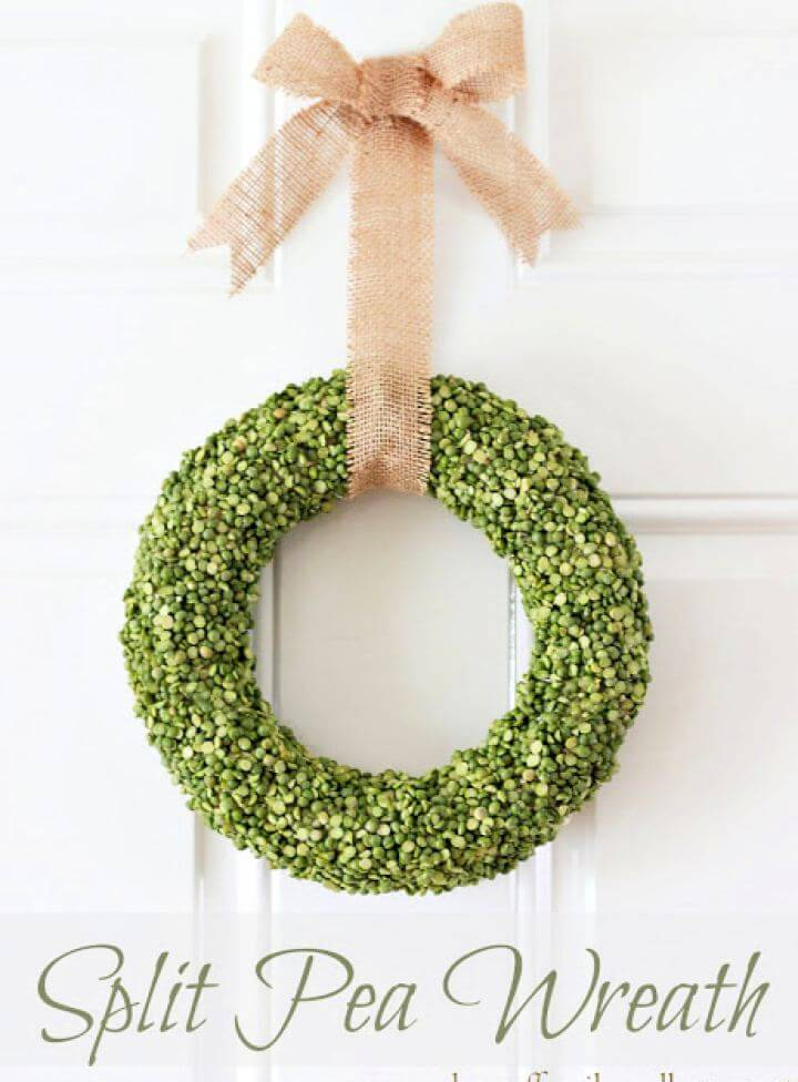 How To Build Split Pea Wreath