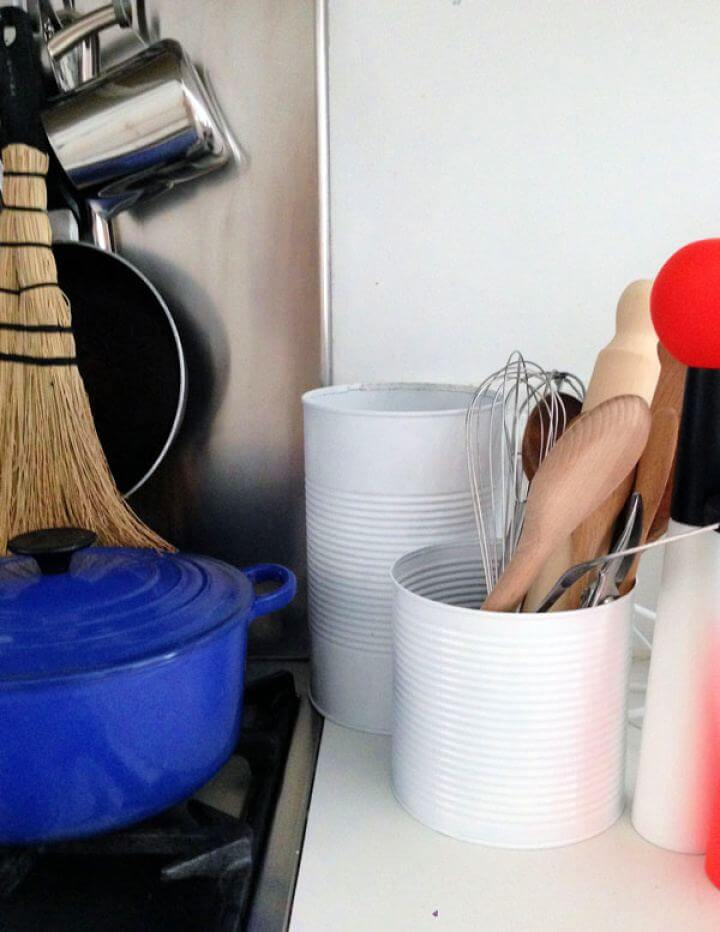 How To Build Upcycled Utensil Holders