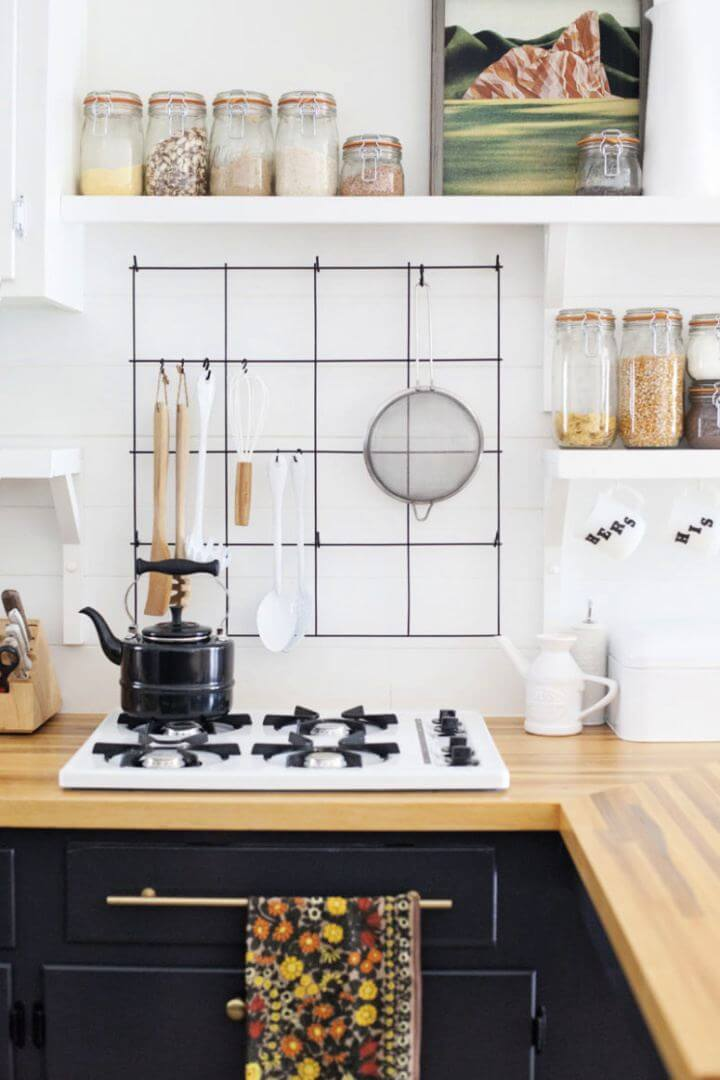 How To Build Wire Utensil Rack