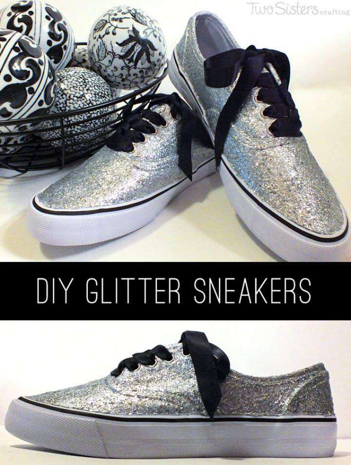 How To Build Your Own Glitter Sneakers