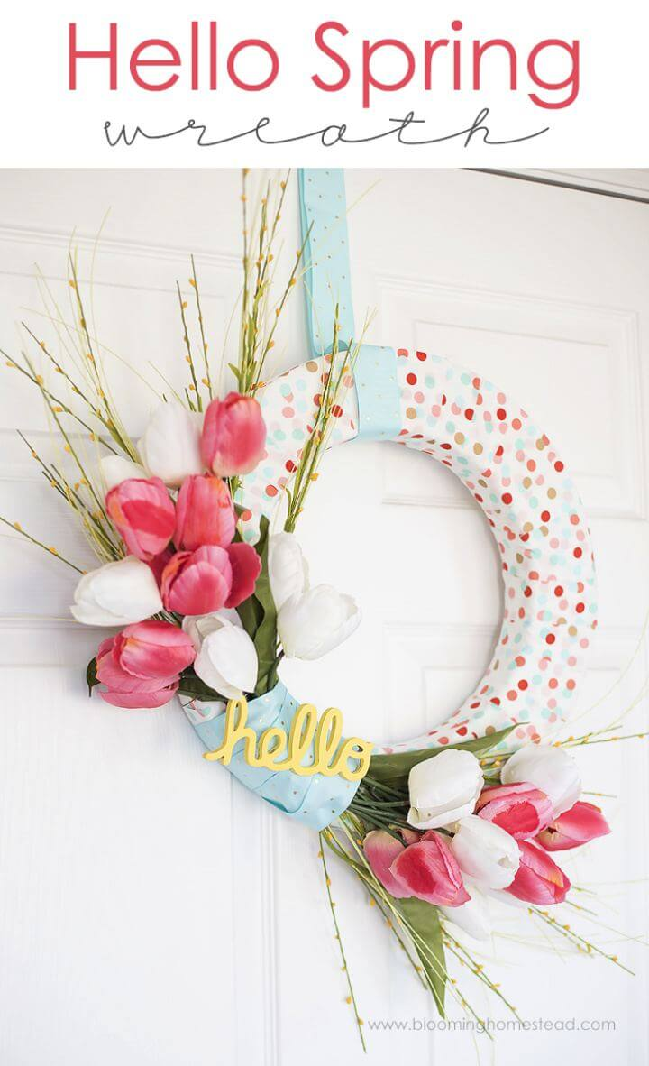 How To Build Your Own Spring Wreath