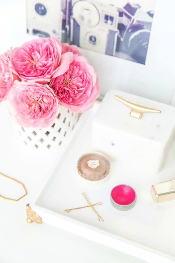 How To Create A DIY Vanity Tray Tutorial
