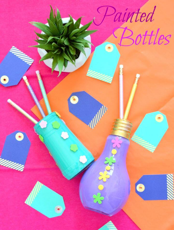How To Create A Painted Bottles