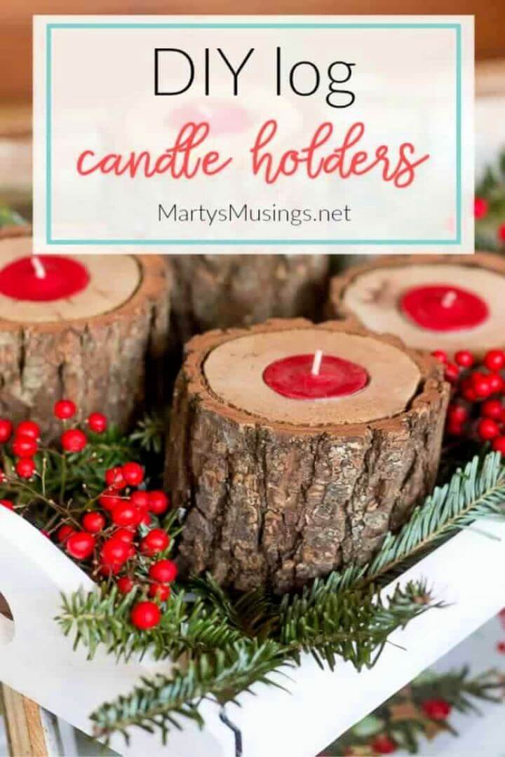 How To Create A Rustic Wood Candle Holders