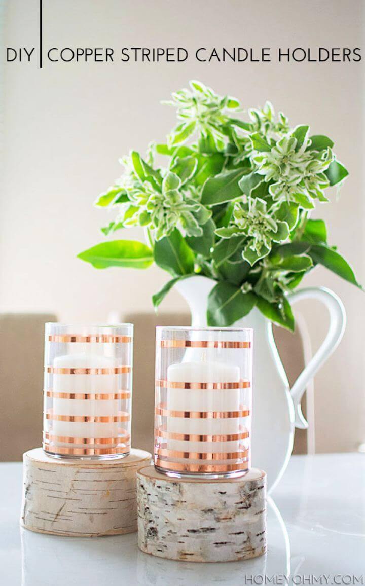How To Create Copper Striped Candle Holders