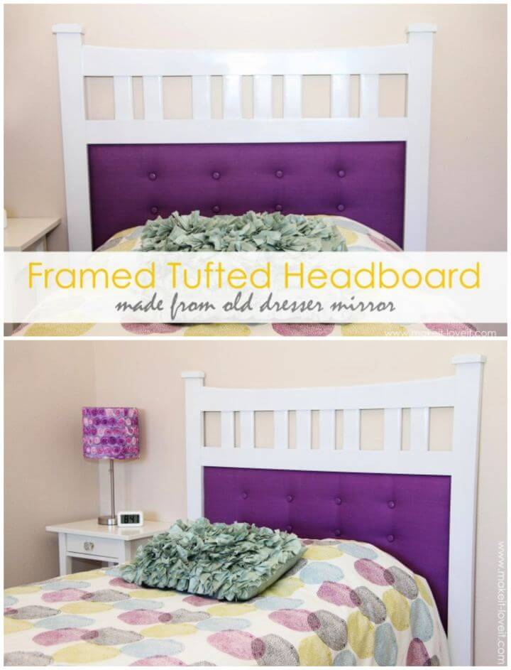 How To Create Framed Tufted Headboard