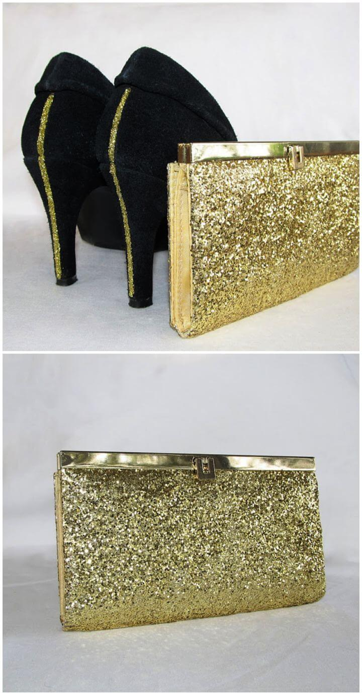 How To Create Glitter Clutch