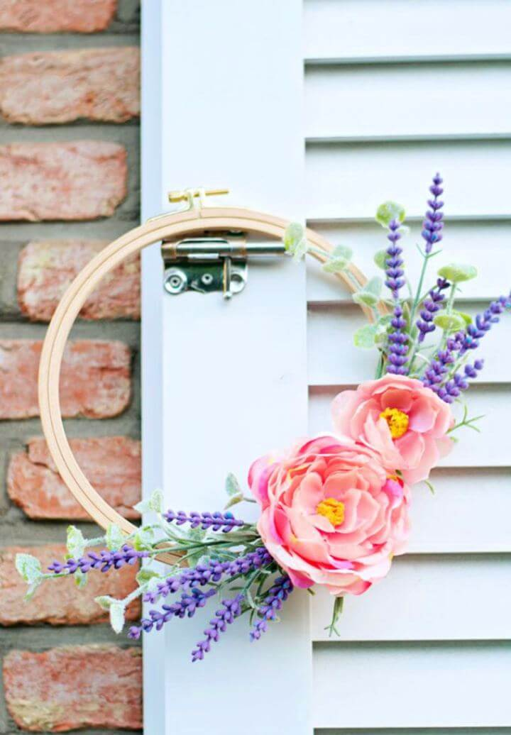 How To Create Lavender Spring Wreath Tutorial