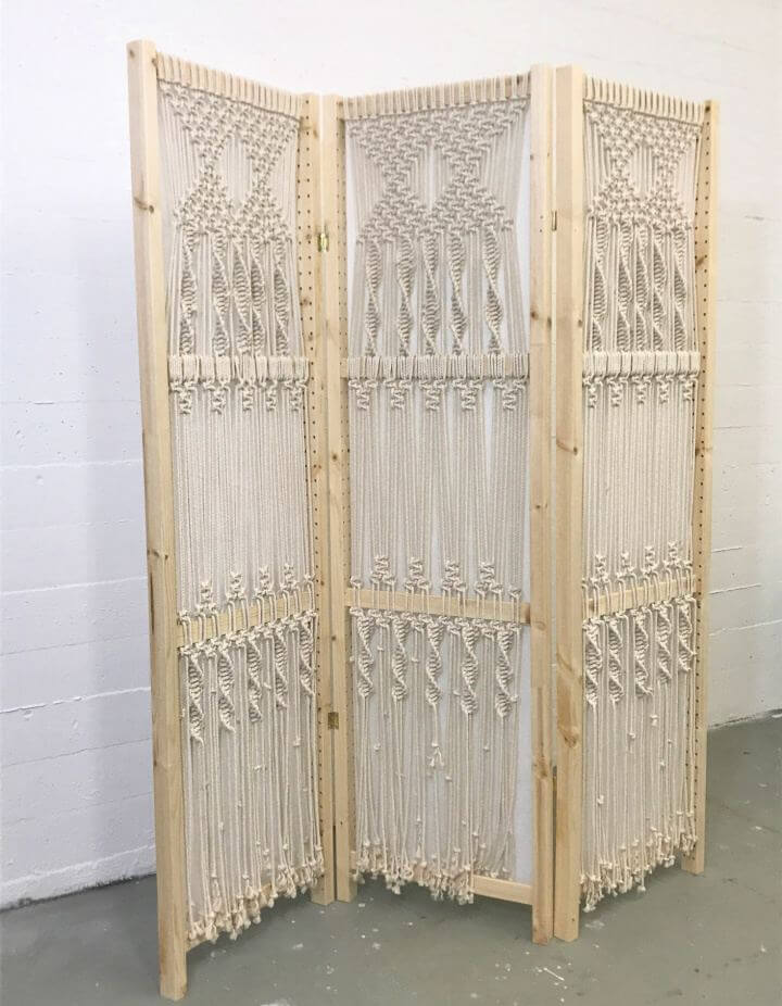 How To Create Macrame Folding Screen