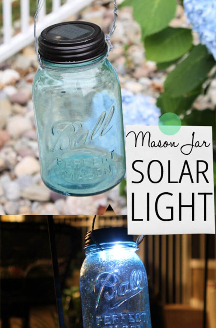 How To Create Mason Jar Solar Outdoor Light