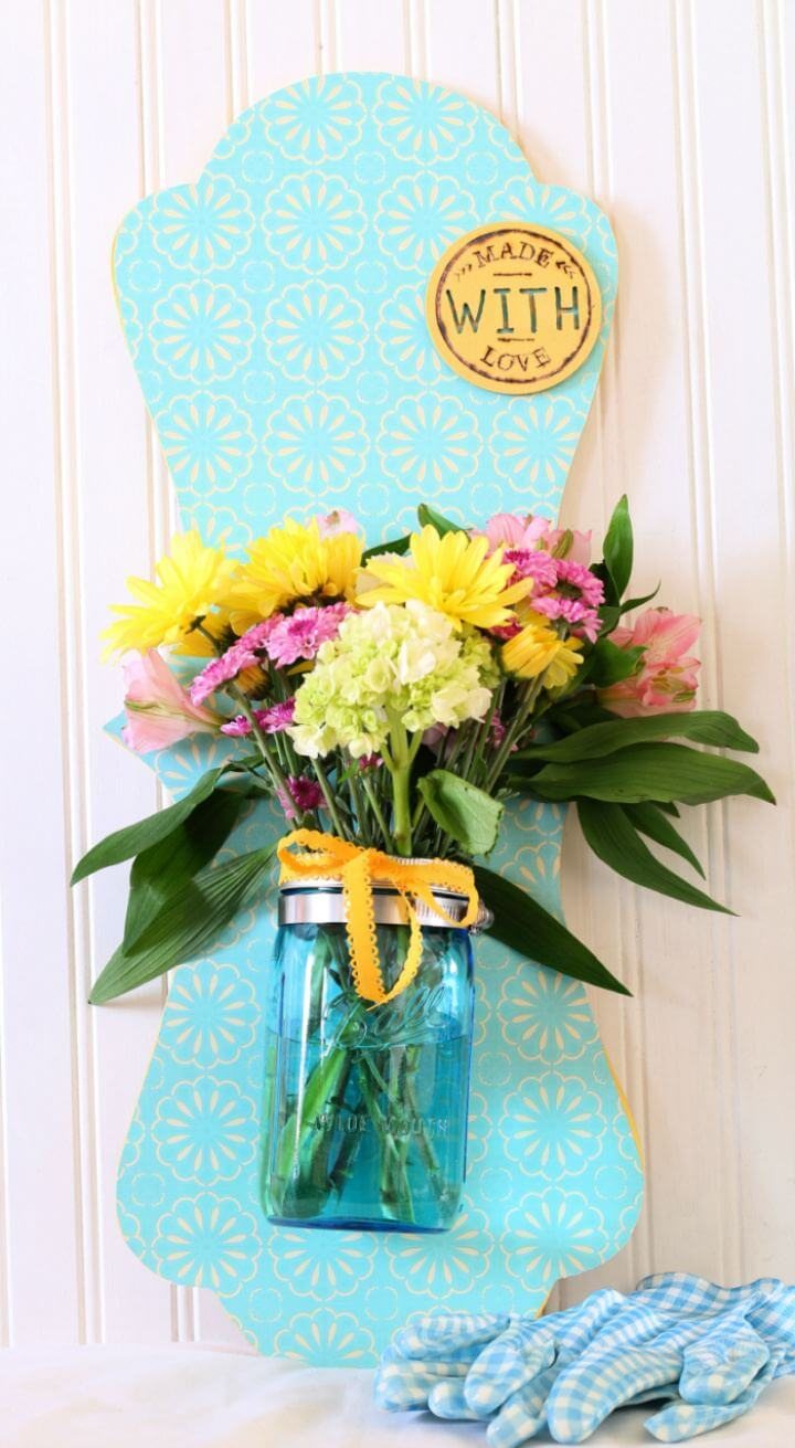 How To Create Mason Jar Wall Hanging