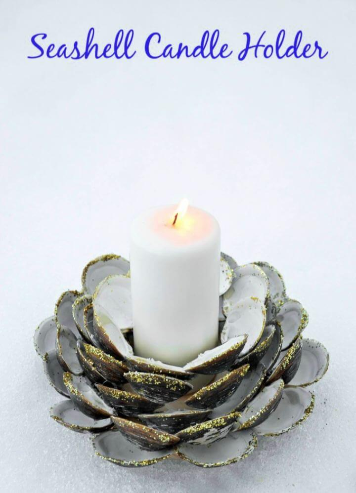 How To Create Seashell Candle Holder