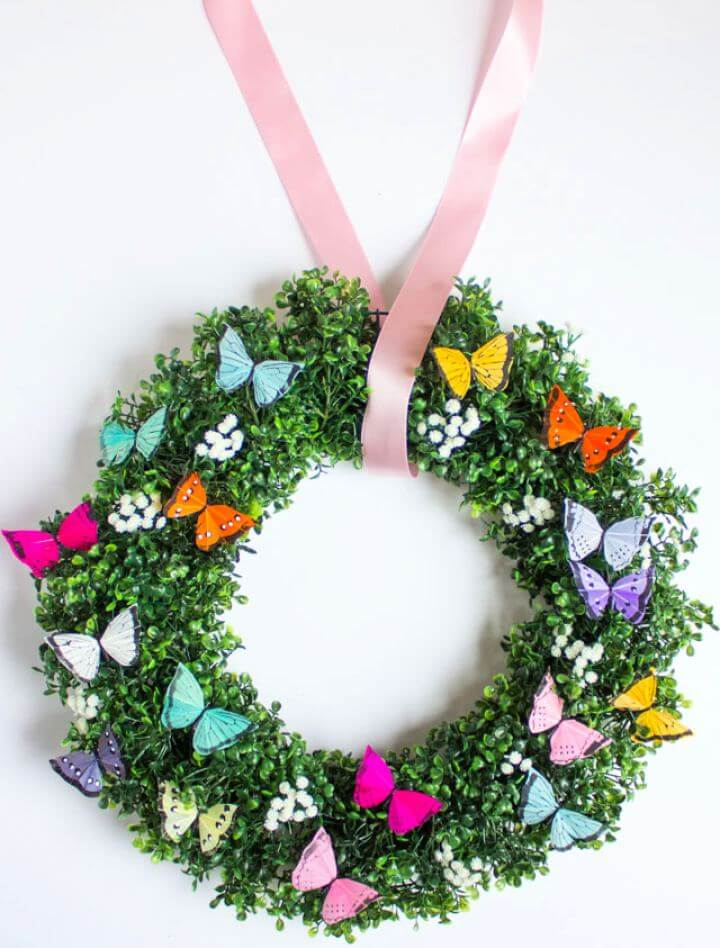 How To Create Spring Butterfly Wreath