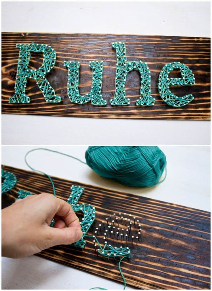 How To Create String Art Wall Decor