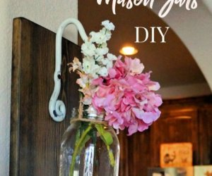 How To Create Wall Hanging Mason Jar