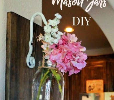 How To Create Wall Hanging Mason Jar