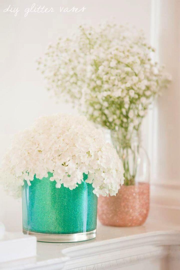 How To Create Your Own Glitter Vases