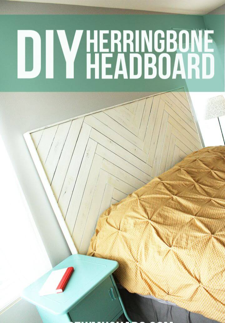 How To Create Your Own Herringbone Headboard
