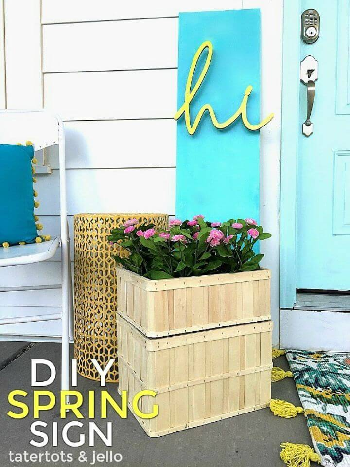 How To DIY 3 Dimensional Spring Sign, signs for home, do it yourself, home decor,
