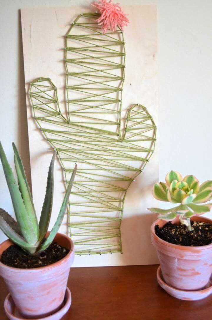 How To DIY Cactus String Art
