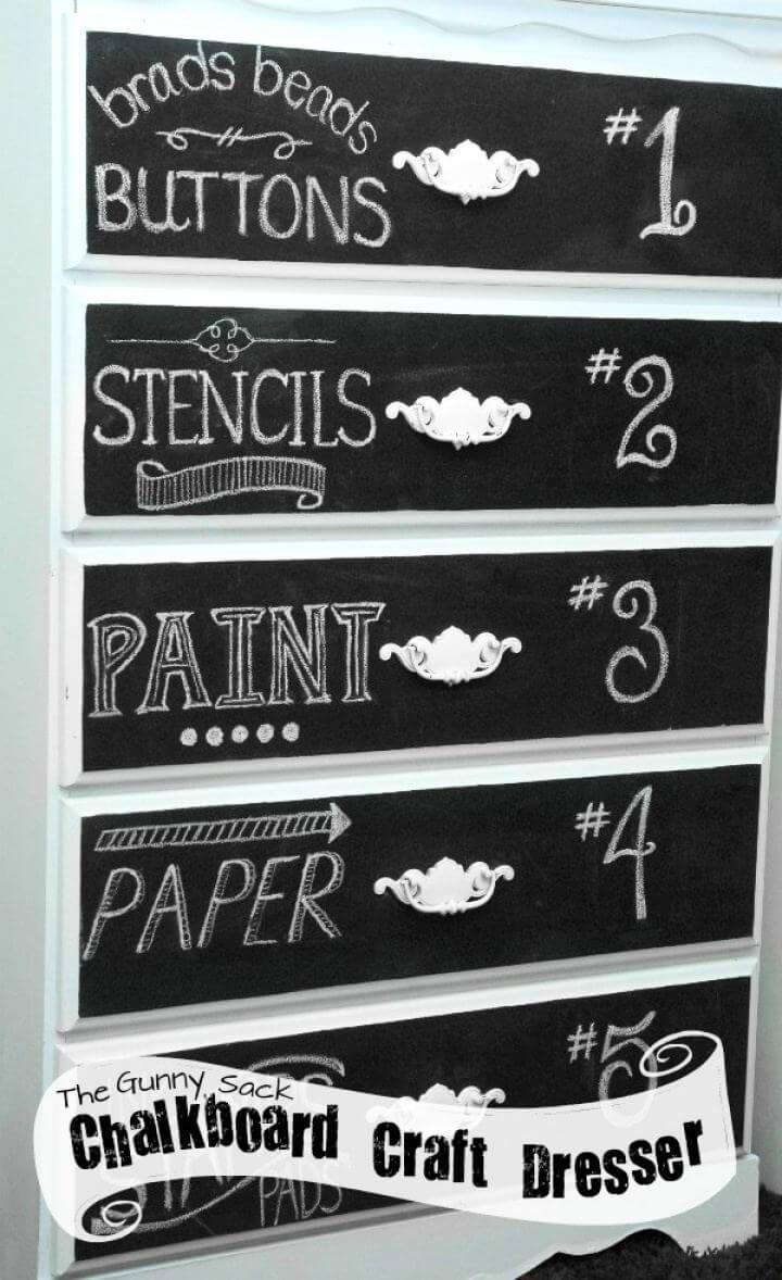 How To DIY Chalkboard Art Dresser