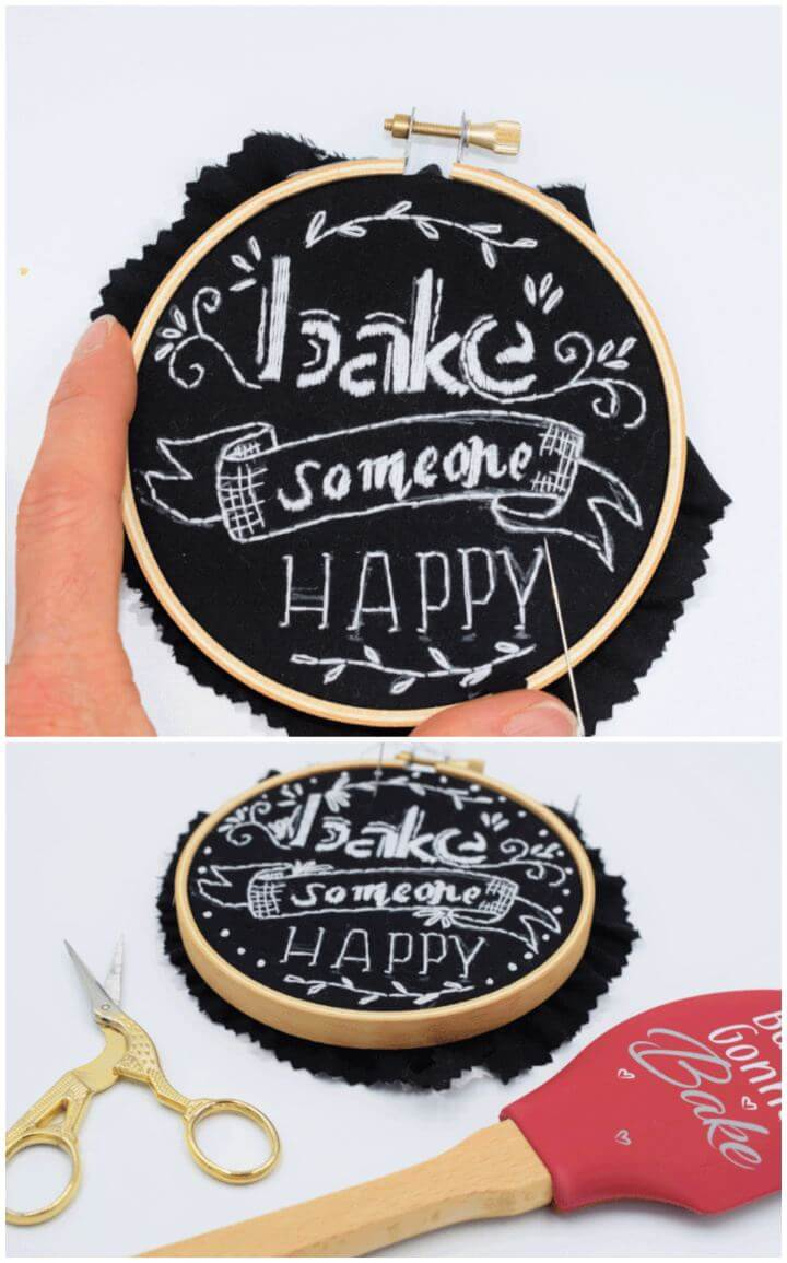How To DIY Chalkboard Embroidery
