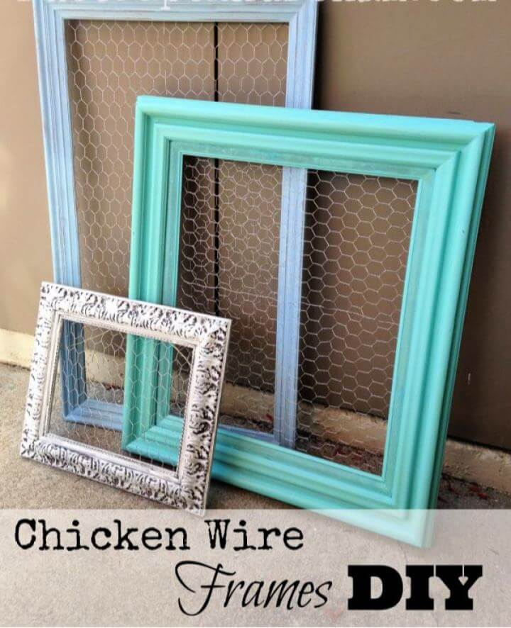 How To DIY Chicken Wire Frames For Gift