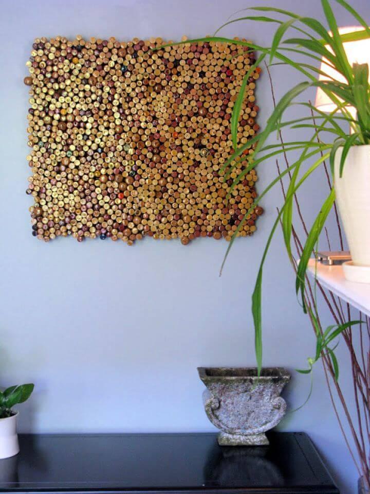 How To DIY Cork Wall Art