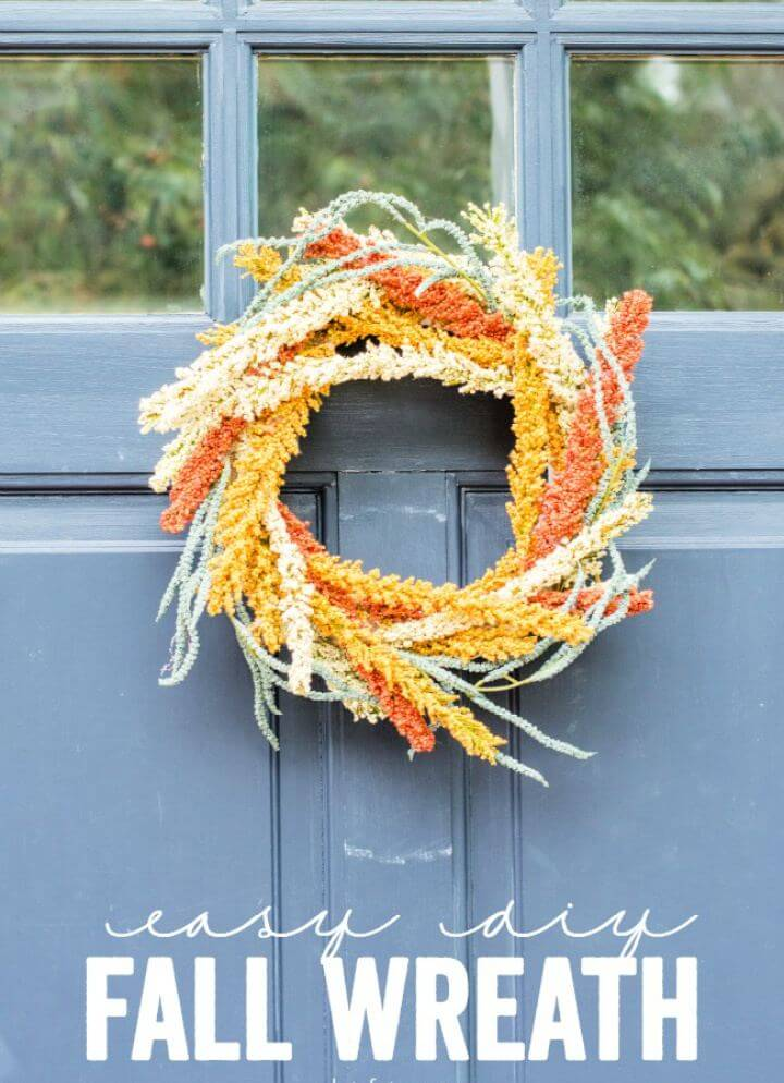 How To DIY Fall Door Wreath Tutorial