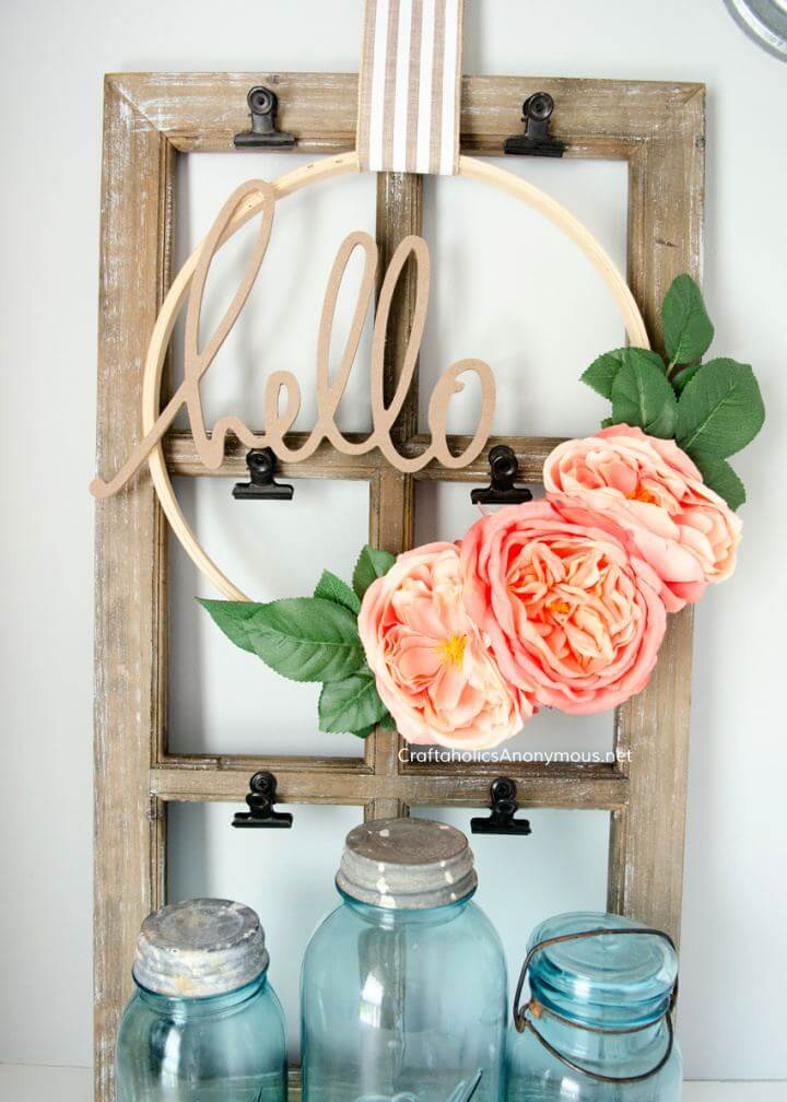 How To DIY Floral Embroidery Hoop Wreaths Tutorial