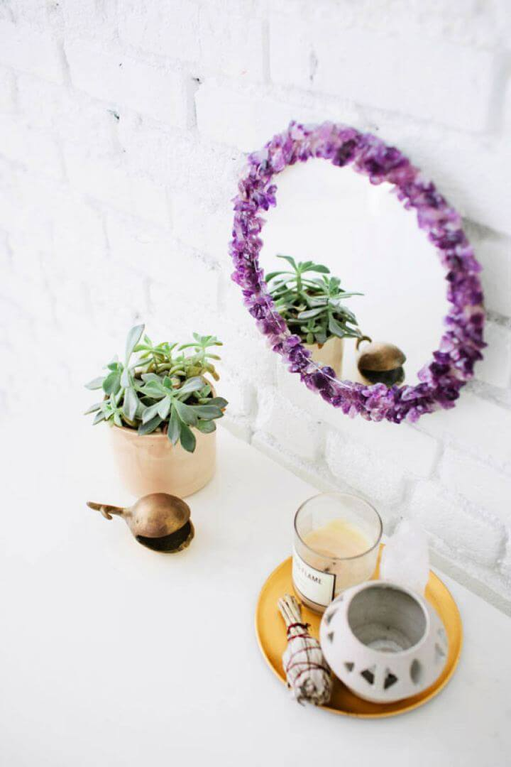 How To DIY Gem Stone Mirror