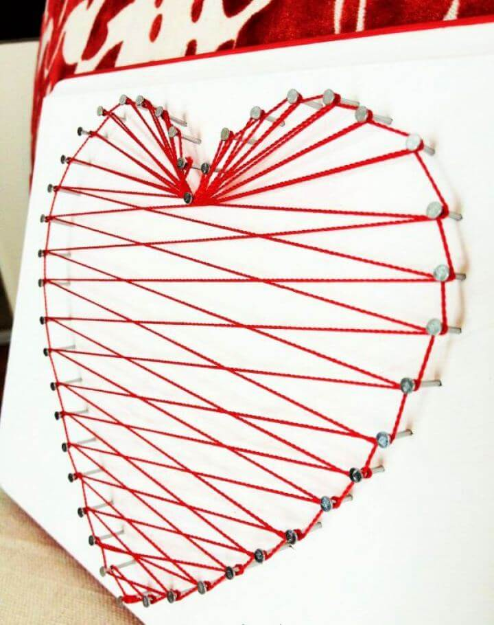 How To DIY Heartstring Wall Art Tutorial